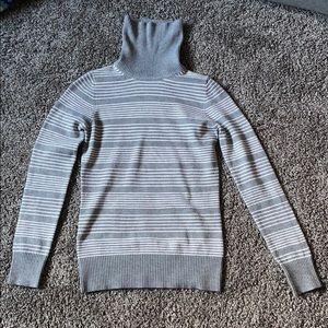 Grey/white stripped Turtleneck